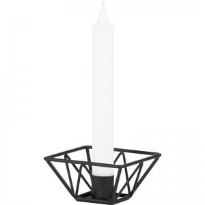 Ljusstake-Wire-svart